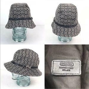 Coach Womens Medium Bucket Hat Signature Fit Cap